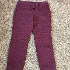 Burgundy dress pants